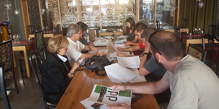 Un moment de l'assemblea de dijous al restaurant Sambucus de Manlleu