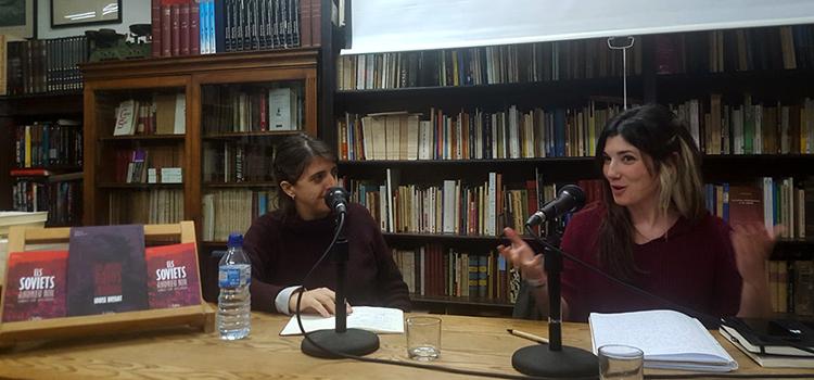 <h2>Sara Blázquez, de Setembre, en una sessió<br> sobre «Periodisme i Revolució» a Barcelona</h2>